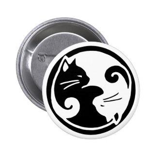 Gatos de Yin Yang Pin Redondo 5 Cm