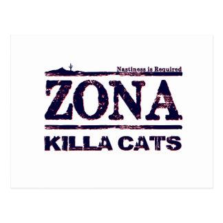 Gatos de Zona Killa - se requiere el Nastiness Tarjeta Postal