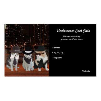 Gatos del agente secreto, fresco, secreto tarjeta de negocio