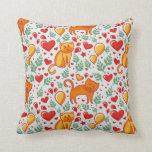 Gatos del amor almohadas