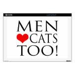 ¡Gatos del amor de los hombres también! Portátil Skin