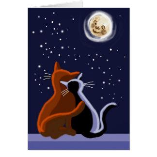 Gatos del amor felicitaciones
