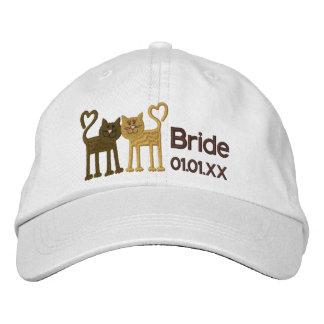 Gatos del amor gorra bordada