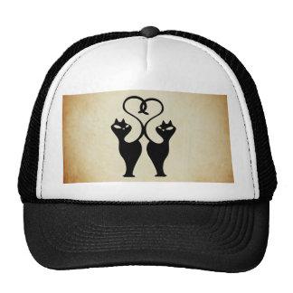 Gatos del amor gorras de camionero