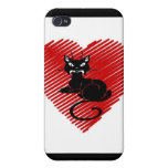 Gatos del amor iPhone 4 carcasa