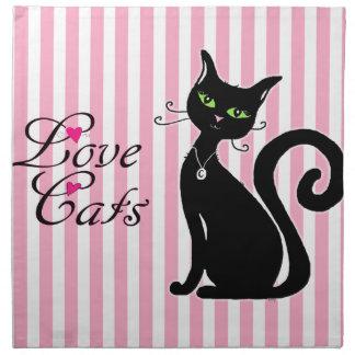 Gatos del amor servilletas imprimidas
