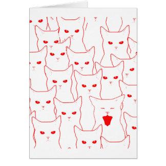 Gatos del amor tarjeta de felicitación