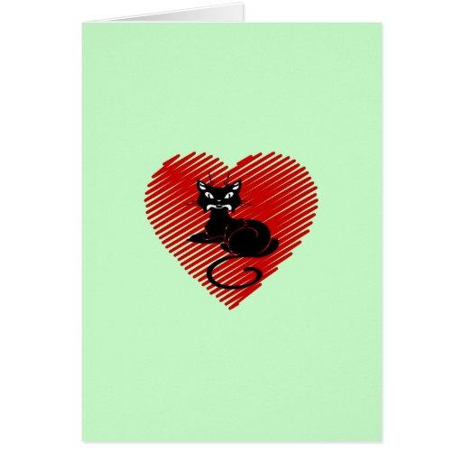 Gatos del amor tarjeta pequeña