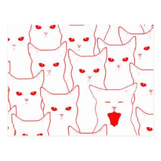 Gatos del amor postal