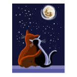 Gatos del amor tarjeta postal
