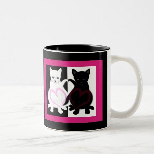 Gatos del amor tazas