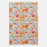 Gatos del amor toallas de cocina