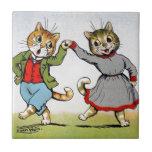 Gatos del baile azulejo