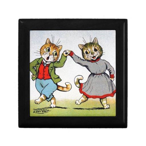 Gatos del baile cajas de recuerdo