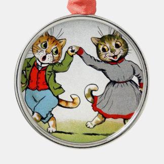 Gatos del baile ornaments para arbol de navidad