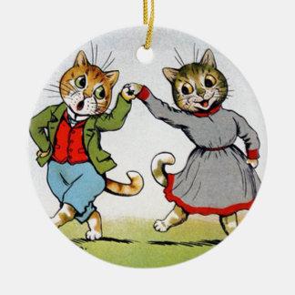 Gatos del baile adorno de navidad