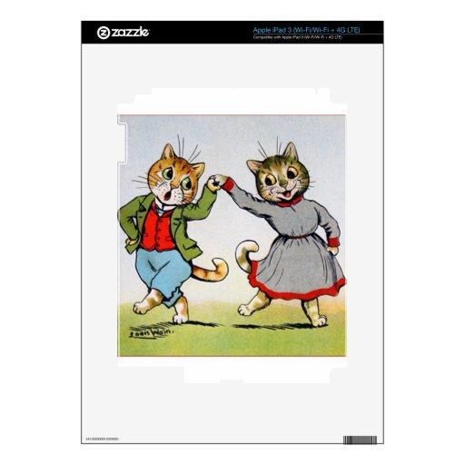 Gatos del baile iPad 3 pegatina skin