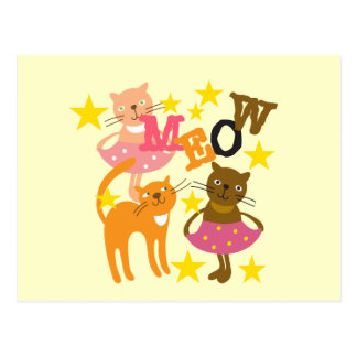Gatos del baile postales