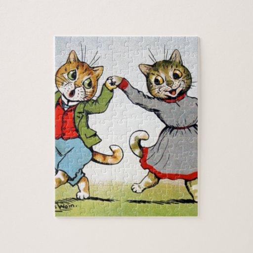 Gatos del baile puzzle con fotos