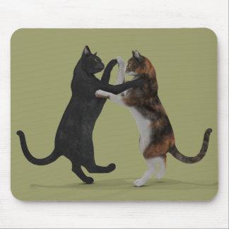 Gatos del baile alfombrillas de ratón