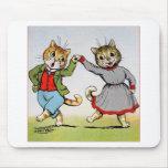 Gatos del baile tapetes de ratones