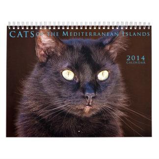 Gatos del calendario mediterráneo 2014 de las isla