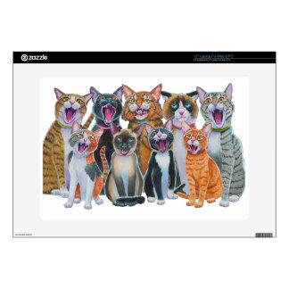 Gatos del canto 38,1cm portátil calcomanía