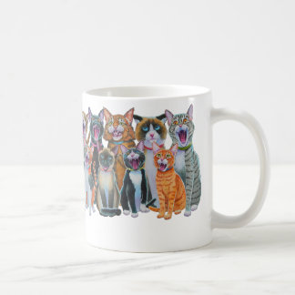 Gatos del canto, abrigo de los gatos de Caroling Taza