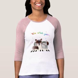 Gatos del canto camiseta