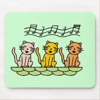 Gatos del canto camisetas y regalos tapetes de ratón