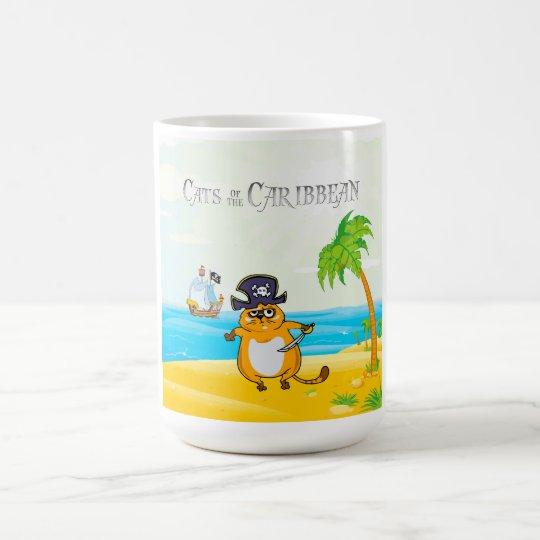Gatos del Caribe Taza De Café