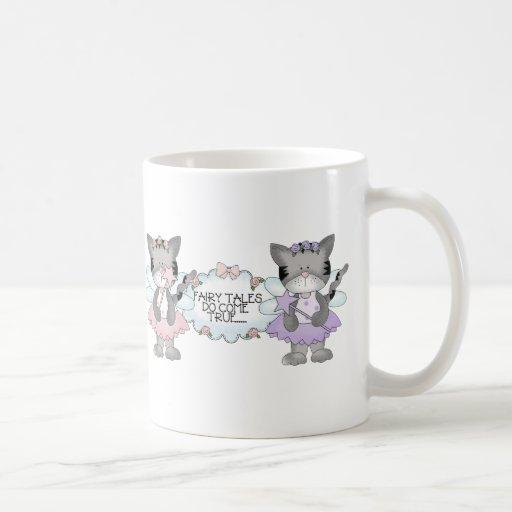 Gatos del cuento de hadas tazas de café