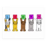 Gatos del cumpleaños del libra postal