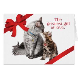 Gatos del día de fiesta tarjeta de felicitación