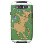 Gatos del dibujo animado galaxy SIII coberturas