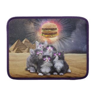 gatos del espacio que buscan la hamburguesa funda macbook air