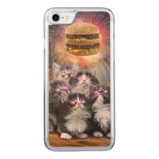 gatos del espacio que buscan la hamburguesa funda para iPhone 7