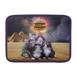gatos del espacio que buscan la hamburguesa fundas macbook air