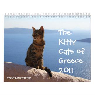 Gatos del gatito de Grecia Calendarios