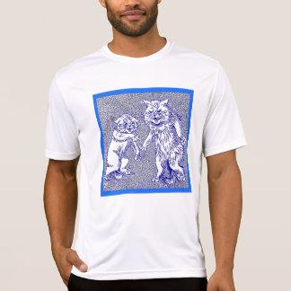 Gatos del gatito en azul de Louis Wain Camisetas