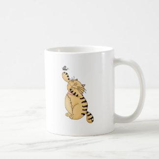 Gatos del gatito · Gatito y mariposa Tazas De Café