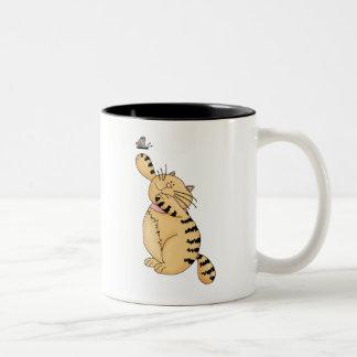 Gatos del gatito · Gatito y mariposa Tazas