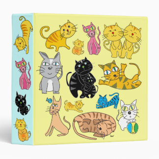 Gatos del gato 13 del amor en una carpeta