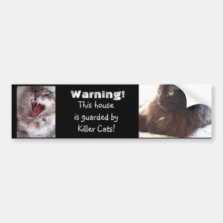 Gatos del Guardar-Asesino Pegatina Para Auto