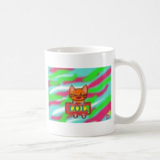 Gatos del guerrero tazas de café