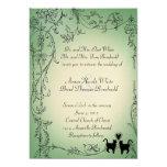 Gatos del jardín que casan la invitación