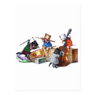 Gatos del jazz postales