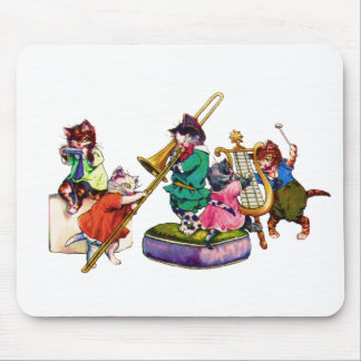 Gatos del jazz alfombrilla de ratones