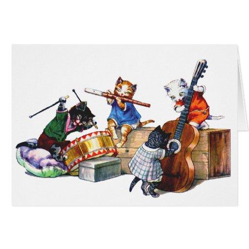 Gatos del jazz tarjeta