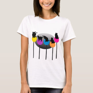 Gatos del Lollipop Playera